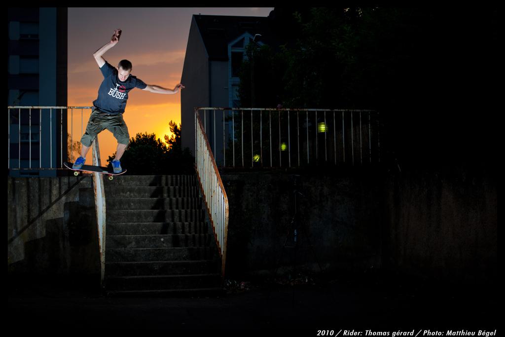 Skateboard–SunsetHandrail